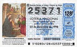 Lotería Navidad 1998