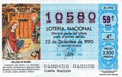 Lotería Navidad 1990