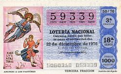 Lotería navidad 1976