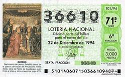 Lotería Navidad 1994