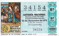 Lotería Navidad 1974
