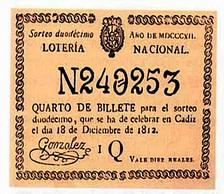 Lotería Navidad 1812