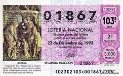 Lotería Navidad 1993